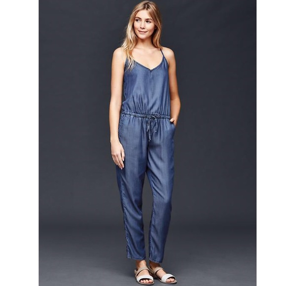 a4ce9cff6746 GAP Pants - Gap dark Chambray jumpsuit